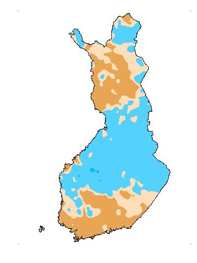 Päivän Vesitilanne karttakuva