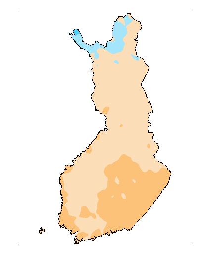 Päivän Veden lämpötila karttakuva